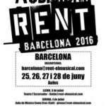 Es convoquen audicions obertes per a formar la companyia que estrenarà la nova producció en català del musical RENT a Barcelona, dirigit per Daniel Anglès (del 25 de juny al 5 de juny a tot Catalunya