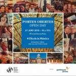 El proper diumenge, 21 de juny, Dia Internacional de la Música, vine a les Portes Obertes del Palau de la Música