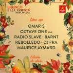 Omar-S, Octave One (live) y Radio Slave encabezan la edición de otoño de Brunch Électronik (11 y 31 de octubre)