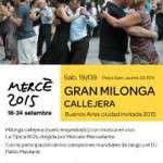 Sábado 19 de septiembre – Gran Concierto Milonga Callejera de la Mercè