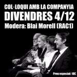 Col·loqui amb Blai Morell – Marits i Mullers, divendres 4 de desembre – 22:30 h – La Villarroel