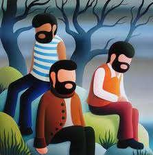 tres tius barbuts