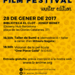 B-ANIME FILM FESTIVAL: WINTER EDITION (28 de gener)