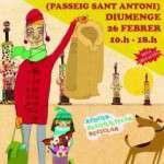 Vuelve el Mercat Viu el dia 26 de febrero en passeig de Sant Antoni en Sants Estació
