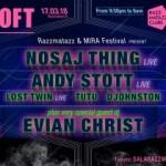 Razzmatazz y MIRA Festival vuelven a juntarse para traer en directo a Nosaj Thing y Andy Stott y el dj set de Evian Christ. 17 de marzo
