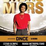 BRUNO MARS el 20 de Junio en el Estadi Olímpic de Barcelona y el día 22 de Junio en el Wanda Metropolitano de Madrid.