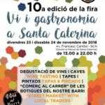 10à Edición de Vi i Gastronomía a Santa Caterina 23 i 24 de novembre