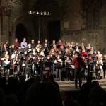 L'Orfeó Català ofereix el tradicional concert de nadales a la plaça del Rei  3 de gener de 2019,