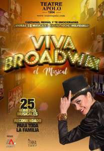 Cartel Viva Broadway Teatro apolo