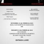 El compositor català David Bozzo organitza per 8è any consecutiu el cicle de concerts anual sota el nom Cicle David Bozzo 22 i 23 de febrer