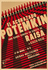 CARTEL - EL ACORAZADO POTEMKIN + BANDA SONORA ORIGINAL de ROCK PSICODÉLICO en DIRECTO.