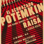 """ESTRENO en BARCELONA > """"EL ACORAZADO POTEMKIN"""" con ROCK PSICODÉLICO en directo el 17 de marzo en ARIBAU CINEMAS"""