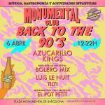 Monumental Club vuelve el día 6 de abril con un especial 'Back to the 90's', actividades familiares y hasta 12 propuestas de 'street food'