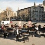 El Maria Canals Porta Cua al Passeig de Gràcia el dia 30 de març