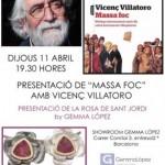 El  Dijous 11 d'Abril a les 19.30 hores, l'escriptor i periodista, VICENÇ VILLATORO presentarà a l'Espai de Joies de la Gemma López