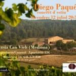 Diego Paqué i el celler de Can Vich agermanen música i vins en una trobada per a delit de tots els sentits 12 de juliol