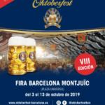 8ª Edición – Oktoberfest Barcelona ¡¡ Acceso Gratuito !! del 3 al 13 de Octubre 2019.
